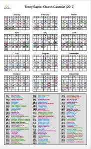 Trinity Calendar Graphic